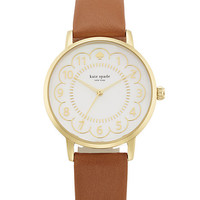 Kate Spade Scallop Metro Watch Brown ONE