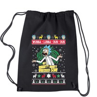 Get Riggity Wrecked Son Ugly Christmas Drawstring Backpack