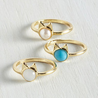 Cats Smiles Purr Hour Ring Set by ModCloth