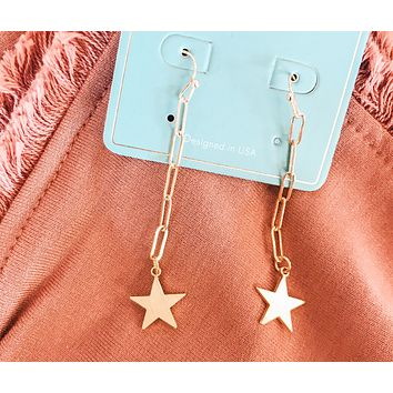 Drop Star Earrings