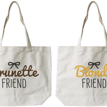 Brunette & Blonde Canvas Bags