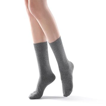 Eva Essential Crew Sock | Grey
