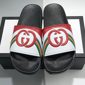 GUCCI Woman Men Casual Sandals Slippers Shoes