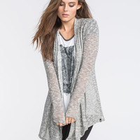 Volcom Go To Womens Hooded Wrap Sweater Charcoal  In Sizes