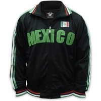 Mexico Track Jacket, 2008 Summers Olympics, Mexican World Cup Soccer Track Jacket, XX-Large, Black (as pictured)