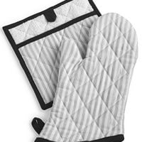 Martha Stewart Collection Striped Oven Mitt & Pot Holder Set, Created for Macy's | macys.com