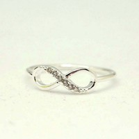 Simple and Pure Infinity Ring in 92.5 Sterling Silver