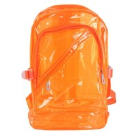 Your Gallery Clear Transparent PVC School Backpack Outdoor Rucksack
