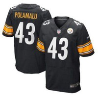 DCCKWV6 Nike Steelers #43 Troy Polamalu Black Team Color Men's Stitched NFL Limited Jersey