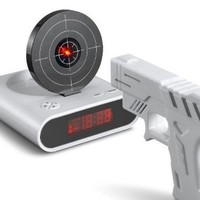 Kaufease Creative Recordable Target Shooting Alarm Clock,gun Shooting Alarm Clock