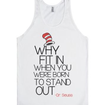 Why fit in-Unisex White Tank