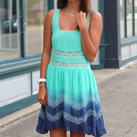 Into the Blue Ombre Dress {Mint Mix}