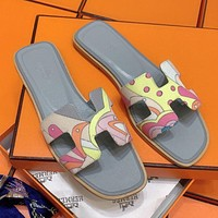 Hermes new slippers fashion beach shoes sandals