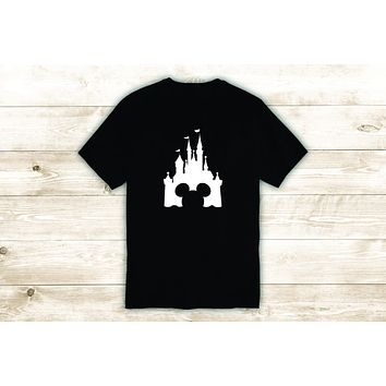 Disney Castle T-Shirt Tee Shirt Vinyl Heat Press Custom Inspirational Quote Teen Baby Kids Girl Boy Disneyland Mickey Mouse
