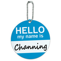 Channing Hello My Name Is Round ID Card Luggage Tag