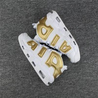 Nike Air More Uptempo 96 White/Gold Size 40-47