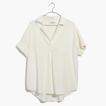 Courier Button-Back Shirt in Pure White : shopmadewell button-up & popover shirts | Madewell