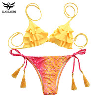 NAKIAEOI 2017 Sexy Brazilian Bikinis Women Swimsuit Girls Swimwear Halter Top Bottoms Micro Bikini Set Bathing Suits Swim Wear