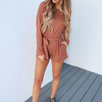 Your One & Only Romper: Clay