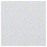 Jane Austen Text White Blue Fabric