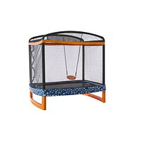 "72"" x 50"" Indoor/Outdoor Trampoline Combo with Swing"