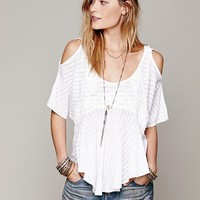 Free People Dreamy Date Cold Shoulder Top