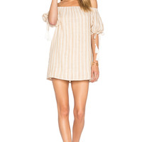 Tularosa x REVOLVE Kya Dress in Natural Stripe Linen | REVOLVE