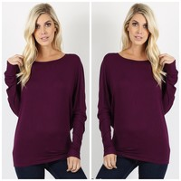 Knit Top in Plum