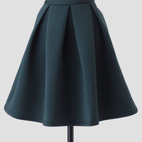Margaux Pleated Skirt In Green