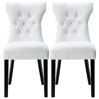 Silhouette Dining Chairs Set of 2 White