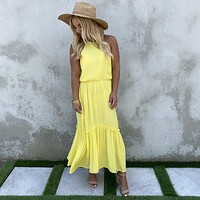 Zest for Life Yellow Maxi Dress