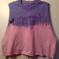Ombré dip dyed purple to pink Mermaid  crop by GlitternLace