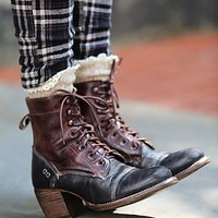 Bed Stu Womens Miner Lace Boot