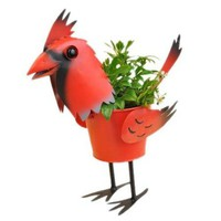 Mini Cardinal Bird Planter 4""