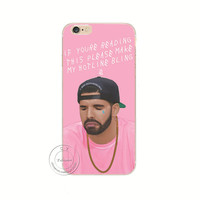 Poor Crying Drake if you are reading this please make my Hotline bling Case Cover For Apple iPhone 4 4S 5 5S 5C 6 6S 6 Plus