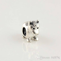 100% 925 Sterling Silver Thread animals horse Bead Fit European Pandora Style Jewelry Bracelets Necklaces & Pendants