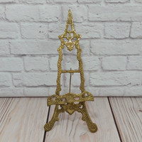 Vintage Ornate Brass Easel