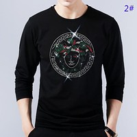 Versace Autumn And Winter Fashion New Human Head Print Women Men Long Sleeve Top Sweater 2#