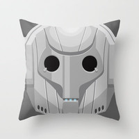 Cyberman - Doctor Who Throw Pillow by Alex Patterson | Society6
