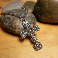 Mens Cross Necklace - Tribal Necklace for Men, African Necklace, Cross Jewelry, Men Necklace, African Jewelry