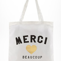 Merci Beaucoup Canvas Tote