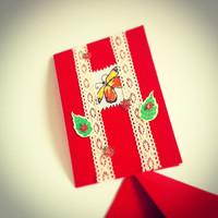 birthday card blank butterfly cards red cards greeting cards handmade cards birthday gift card