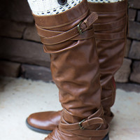 Button Boot Cuff - Ivory