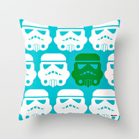 Robot Decorative throw pillow cover -  Blue and white pillow cover - Star wars pillow case - toddler pillow case -Modern pillow cover