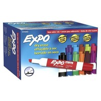 Expo 12ct Low Odor Chisel Tip Dry Erase Markers - Assorted Colors