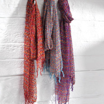 Gorgeous Scarf! Finished with Fringes. Made in India on a fair trade basis. Gorgeous.