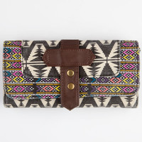 Tribal Print Fold-Over Wallet Multi One Size For Women 26286995701