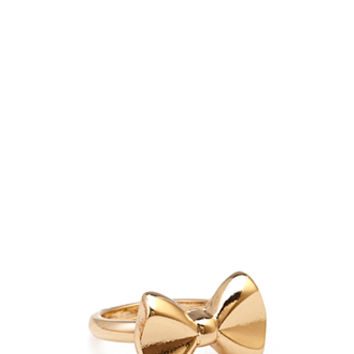 FOREVER 21 Bow Ring Gold