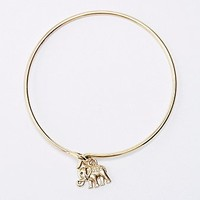 Elephant Bangle in Gold - Urban Outfitters