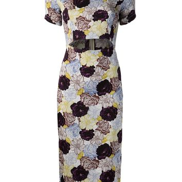 Suno Floral Cut Out Dress